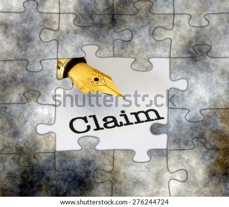 Puzzle claim concept - stock photo