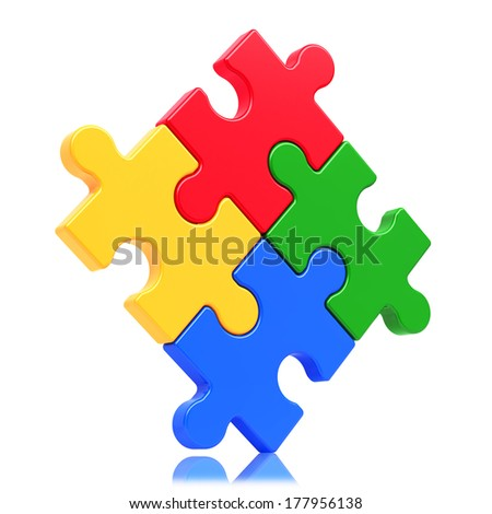 Puzzle concept isolated on white background