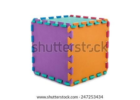 Puzzle cube - stock photo