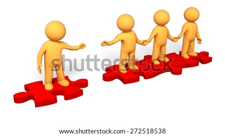 Puzzle. 3D. Join Our Team - stock photo