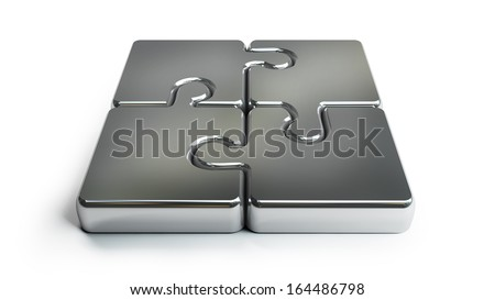 Puzzle icon isolated on white background High resolution 3d