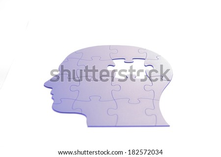 Puzzle in the form of the head