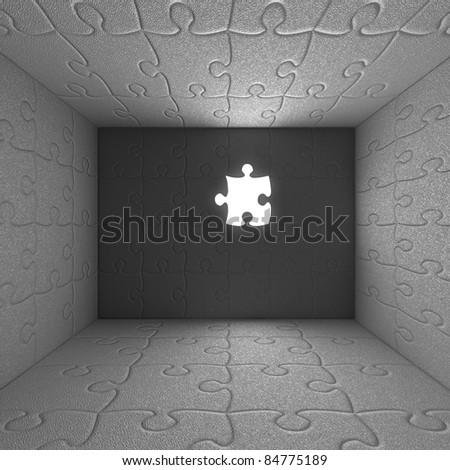 Puzzle Interior Box 2 - stock photo