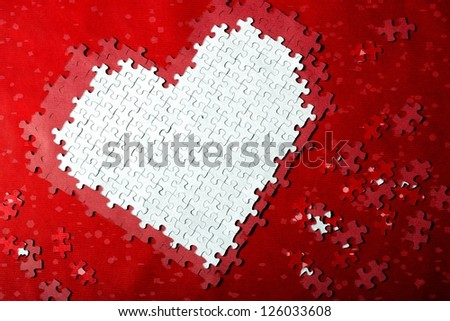 Puzzle Love - stock photo