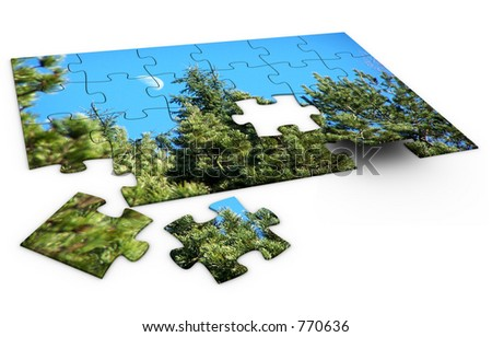 Puzzle of nature.
