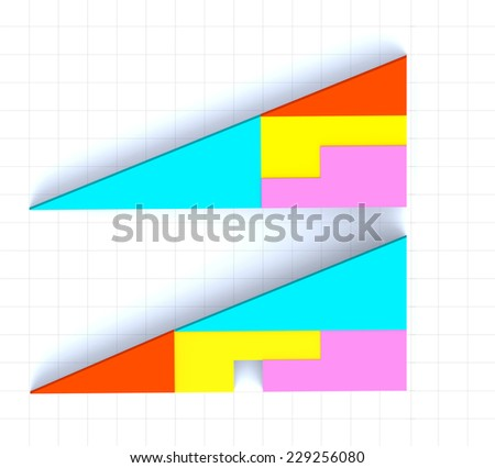 Puzzle of triangles  - stock photo