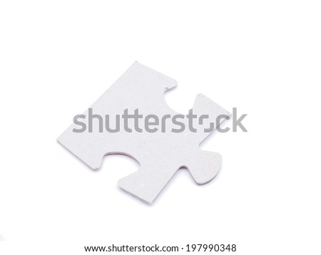 puzzle on white background - stock photo