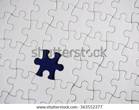 Puzzle piece background.  Close-up.