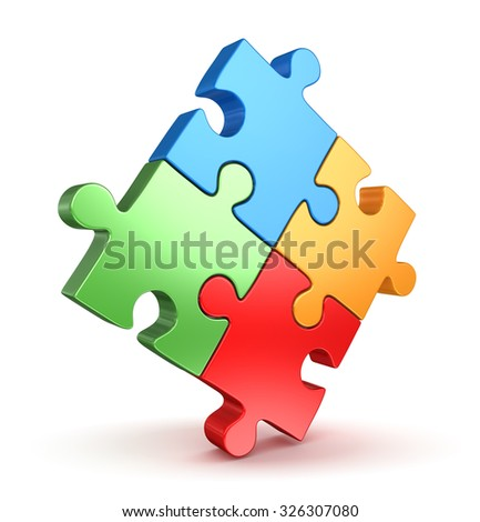 Puzzle Piece , This is a computer generated and 3d rendered picture.