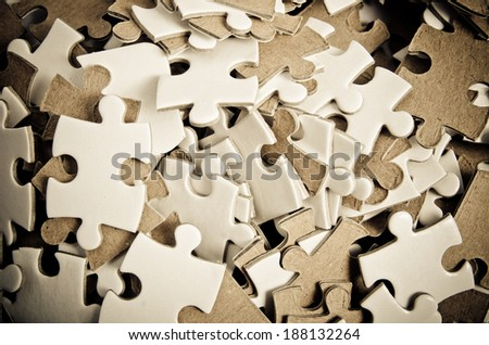 puzzle pieces as a background - stock photo