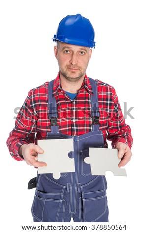 Puzzle plumbing, plumber secret  - stock photo