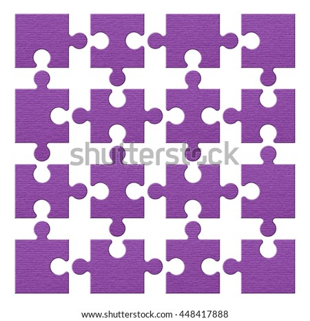 puzzle set colorful, purple