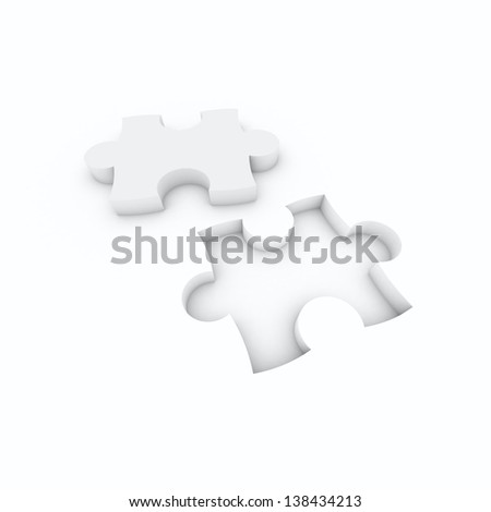 puzzle white isolated