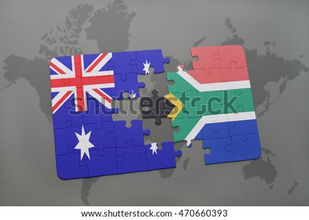 Puzzle national flag australia south africa stock illustration puzzle with the national flag of australia and south africa on a world map background gumiabroncs Image collections