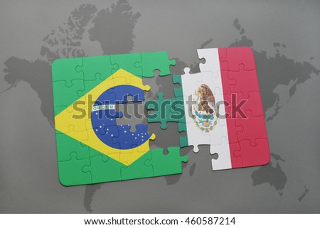 Puzzle national flag brazil japan on stock illustration 467347898 puzzle with the national flag of brazil and mexico on a world map background 3d gumiabroncs Image collections