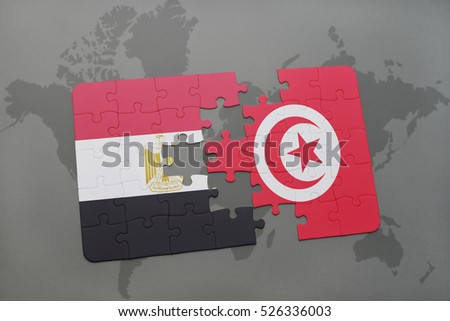 Puzzle national flag egypt tunisia on stock illustration 526336003 puzzle with the national flag of egypt and tunisia on a world map background 3d gumiabroncs Gallery