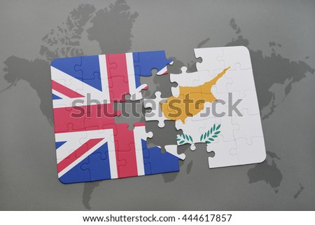 Uk cyprus stock images royalty free images vectors shutterstock puzzle with the national flag of great britain and cyprus on a world map background gumiabroncs Choice Image