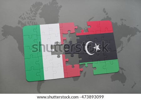 Puzzle national flag italy libya on stock illustration 473893099 puzzle with the national flag of italy and libya on a world map background 3d gumiabroncs Images
