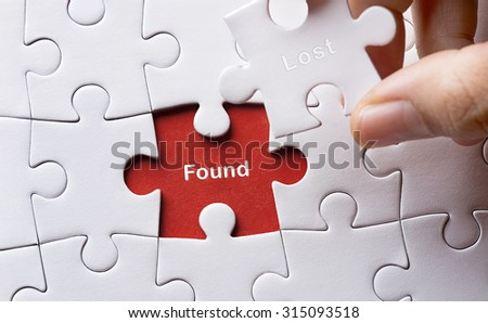 Puzzle with word found
