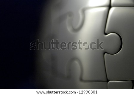 puzzle world - stock photo