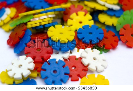 Puzzles constructor - stock photo