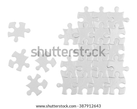 Puzzles isolated on white