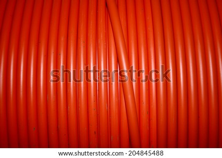 PVC electrical control cable in a coil - stock photo