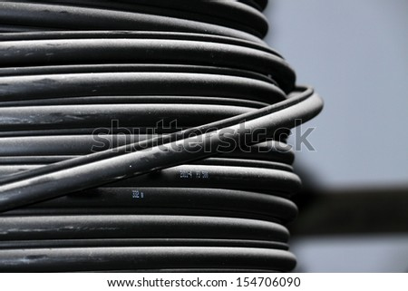 PVC Wire dust adhesion   - stock photo