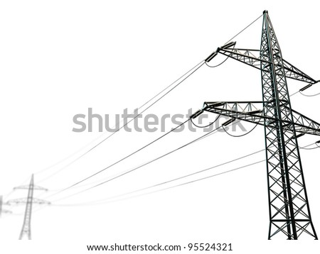 pylon isolated on white background - stock photo