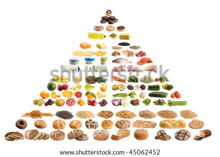 Pyramid food - stock photo