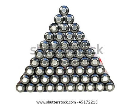 pyramid from batteries