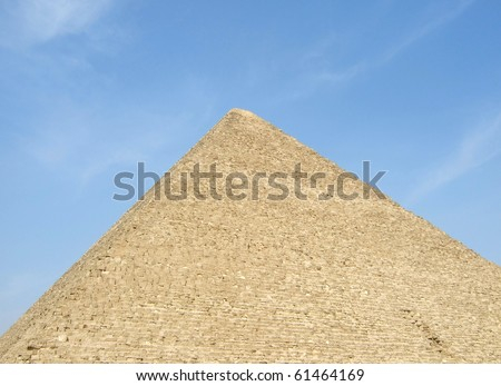 pyramid Giza in background of blue sky, Egypt