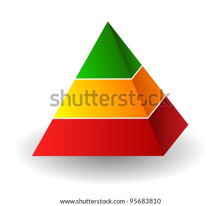 Pyramid illustration over white