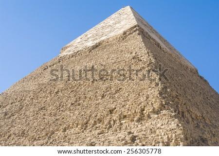Pyramid of Khafre, Giza (Egypt) - stock photo