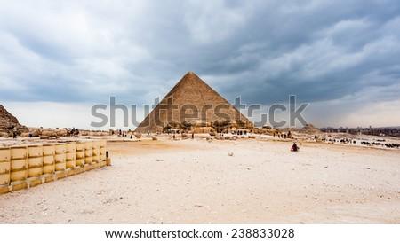 Pyramid of Saqqara, an archeological remain in the Saqqara necropolis, Egypt. UNESCO World Heritage - stock photo