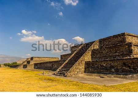 Pyramid of the Moon, Teotihuacan, Mexico - stock photo