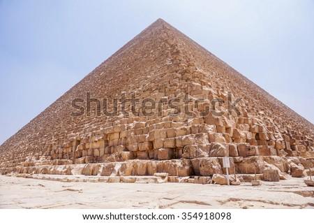 Pyramids, Egypt - stock photo