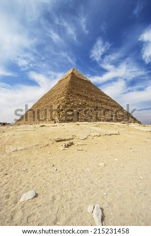 Pyramids of Giza - Pyramid of Khafre / Chephren in Egypt