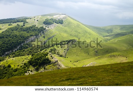 Pyrenees, on the Way of St. James - stock photo