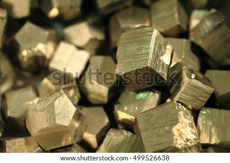pyrite mineral collection as very nice golden texture