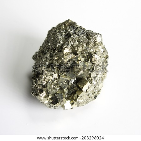 Pyrite mineral pattern - stock photo