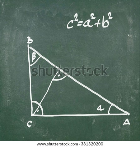 Pythagoras' theorem - stock photo