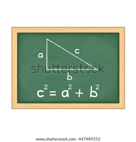 Pythagoras' theorem on blackboard
