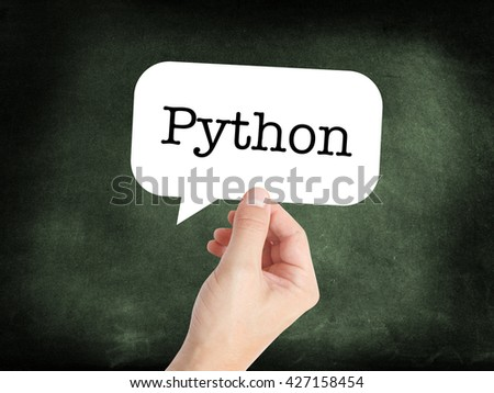 Python written on a speechbubble