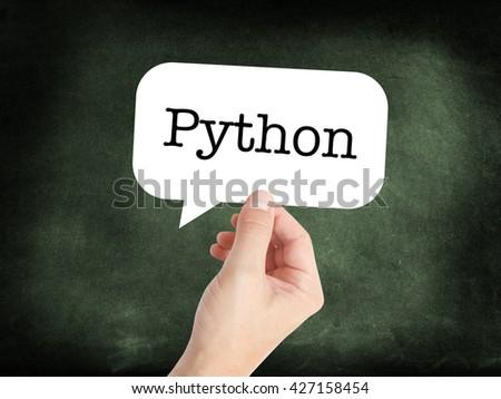 Python written on a speechbubble - stock photo