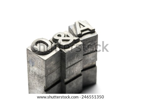 Q & A, Question and Answer letterpress block letter - stock photo