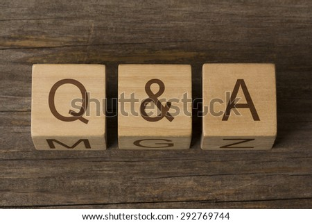 Q & A questions and answears - stock photo