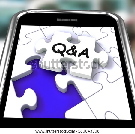 Q&A Smartphone Showing  Questions Answers And Assistance - stock photo
