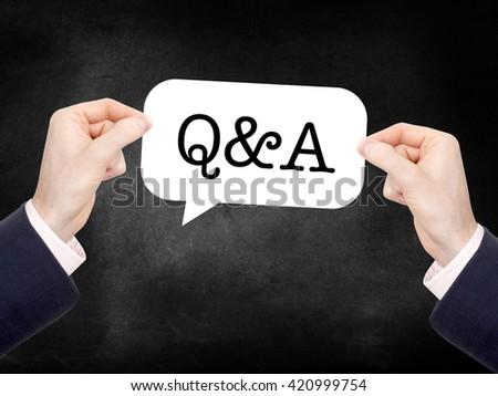 Q&A written on a speechbubble - stock photo