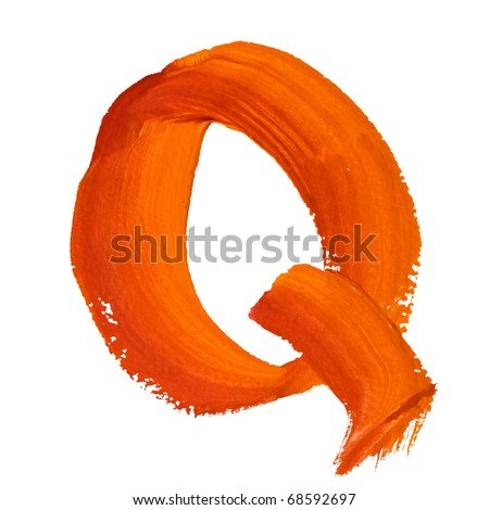 Q - Color letters isolated over the white background
